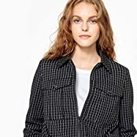 La Redoute Collections Womens Short Straight Checked Jacket