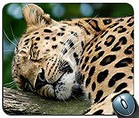 マウスマット、動物のヒョウ2カスタマイズされたマウスパッドの長方形マウスパッドのゲームマウスマット