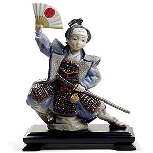 リヤドロ 五月人形 桃太郎 子供大将飾り 浮世人形 Lladro 磁器人形 桃太郎 台座付 限定3500体 h315-01008641