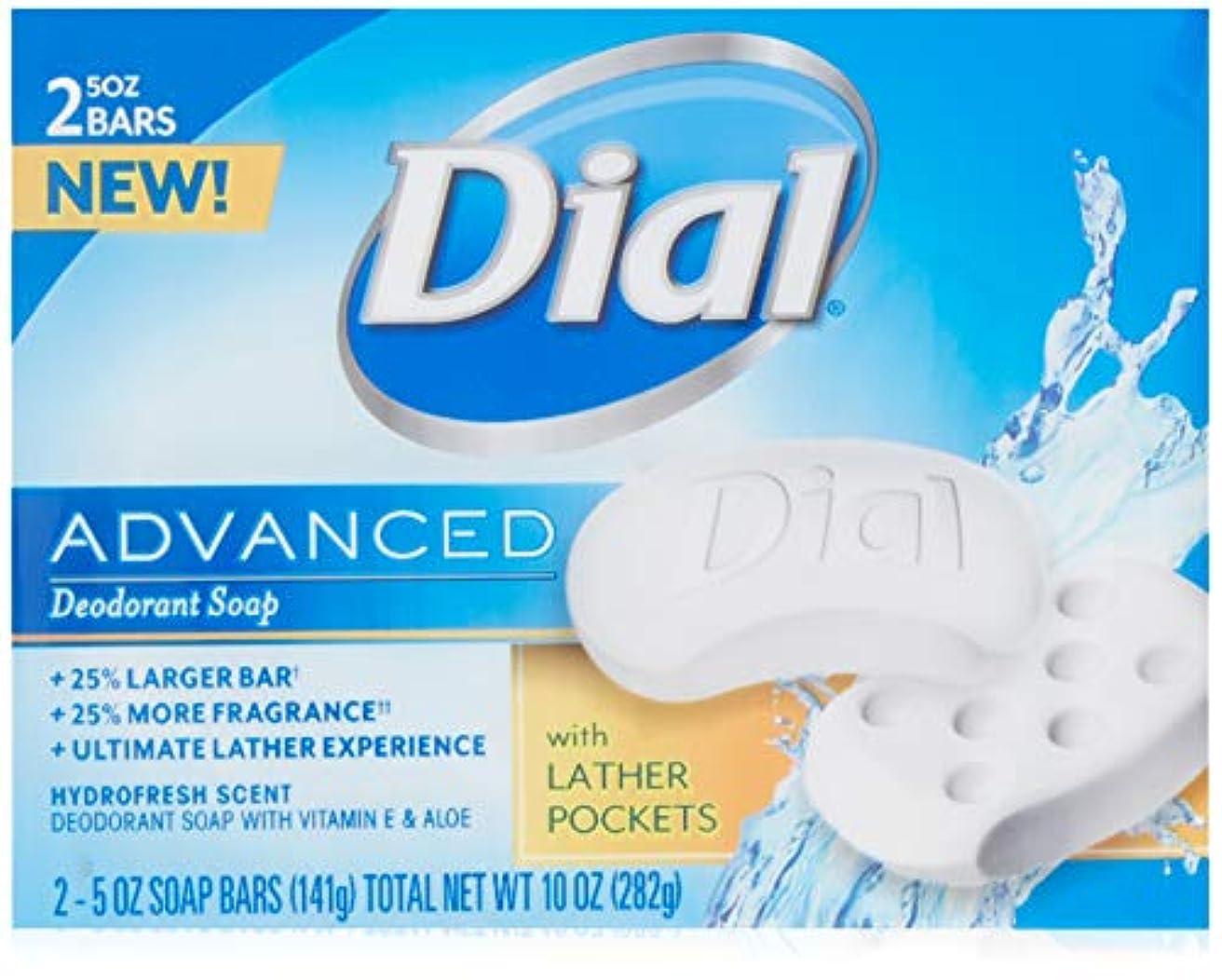 遮る比類のない若いDial 高度なデオドラントソープバーHydrofresh香り、10オズ