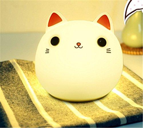 SUJESI LED ナイトライト ベッドサイドランプ 暖色...