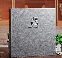 HYYQG フォトアルバムスクラップブックブラックページ、母のためのゲストブックのスクラップの誕生日プレゼント、男性のための結婚記念日のプレゼント女性, B