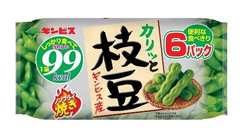 ギンビス 枝豆 ノンフライ焼き6P 120g×12袋