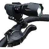 クイックリリースシステム 跟超防水 LED 自行车前灯 フィットロードレーシングマウンテンバイク/骑行/自行车前灯或者野营, 郊游