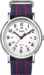 [タイメックス]TIMEX ウィークエンダー セントラルパーク ホワイト×ネイビー レッド T2N747 【正規輸入品】