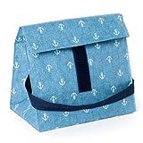 スムーズらくらくランチバッグ(保冷剤&収納ネット付き)・スタンダードタイプ 潮風香るヴィンテージ・マリン 日本製 N0817900