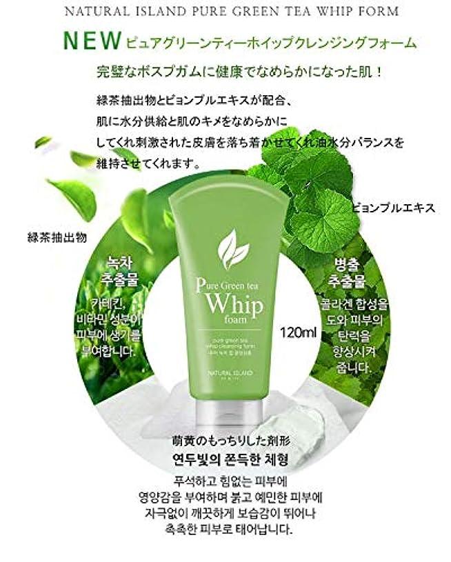 容量乱気流前奏曲NATURAL ISLAND CLEANSING FOAM カスタムクレンジングフォーム Pure Green Tea