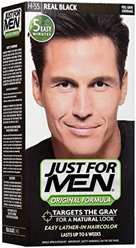 ご飯便益検体Just for Men シャンプーで髪の色 - リアルタイムブラック
