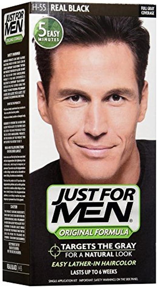 より平らな概して神聖Just for Men シャンプーで髪の色 - リアルタイムブラック