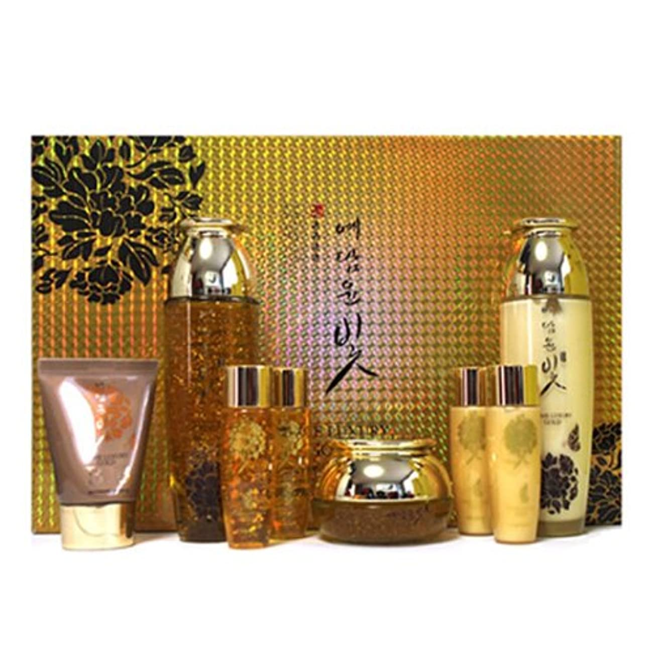 告白する舌な魂イェダムユンビト[韓国コスメYedam Yun Bit]Prime Luxury Gold Skin Care Set プライムラグジュアリーゴールドスキンケア4セット 樹液 乳液 クリーム/ BBクリーム [並行輸入品]