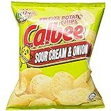 Calbee Potato Chips, Sour Cream, 80g
