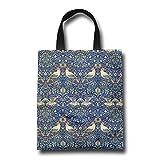 NIKO ウィリアム・モリスの鳥パターン おしゃれ トートバッグ カラフル カラー 買い物バッグ エコバッグ レディース 小物入れ 手作り 遠足 旅行 かばん A4