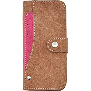 PLATA iPhone 6 iPhone6s ケース 手帳型 スライド カード ポケット ソフト レザー カバー 手帳カバー iPhone 6 6s 【 ブラウン 茶 brown 】 IP6-6217BR
