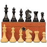 Fierce Knight Stauntonチェスセットin Ebonized Boxwood withマホガニーボックス – 3
