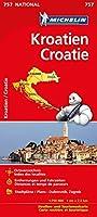 Michelin Nationalkarte Kroatien 1:750 000: Strassen- und Tourismuskarte