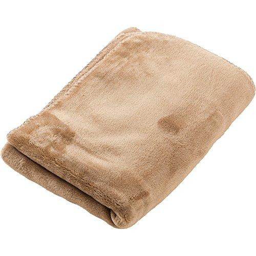 アイリスプラザ ひざ掛け 毛布 mofua ブランケット プレミアムマイクロファイバー とろけるような肌触り 静電気防止 軽量 洗える 高密度 品質保証書付き モカベージュ 100×70cm