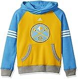 Los Angeles Lakers Youth NBA Adidas堅牢な」プルオーバーフード付きスウェットシャツ イエロー