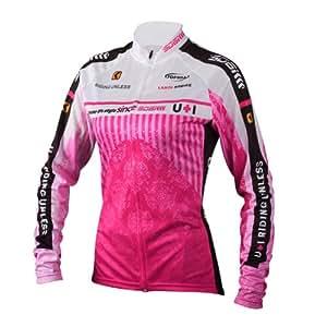 レディサイクルウェア吸水速乾素材,吸汗力抜群サイクルジャージ女性夏用長袖,XL