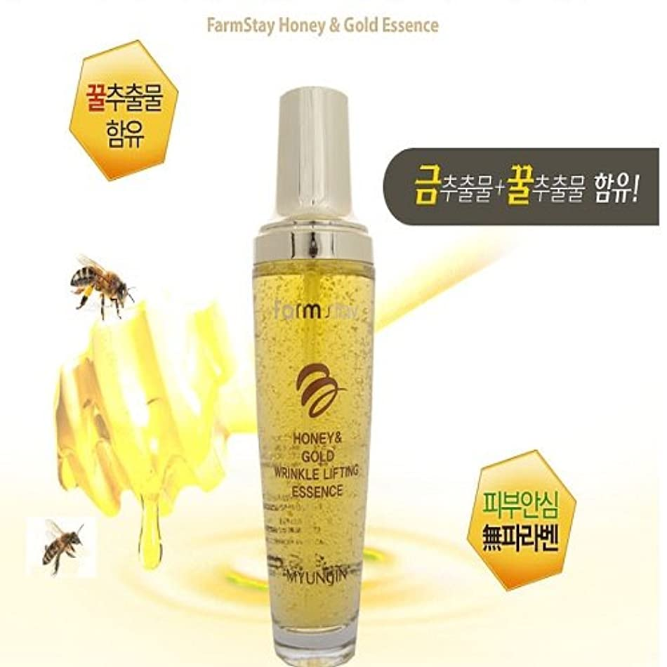 歩き回る繊細十[FARM STAY] Honey & Gold Wrinkle Lifting Essence 130ml