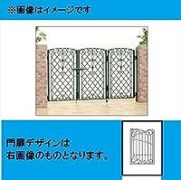 三協アルミ 門扉 キャスリート 8型 3枚折りセット 門柱タイプ 0612   アートブラック(KA)