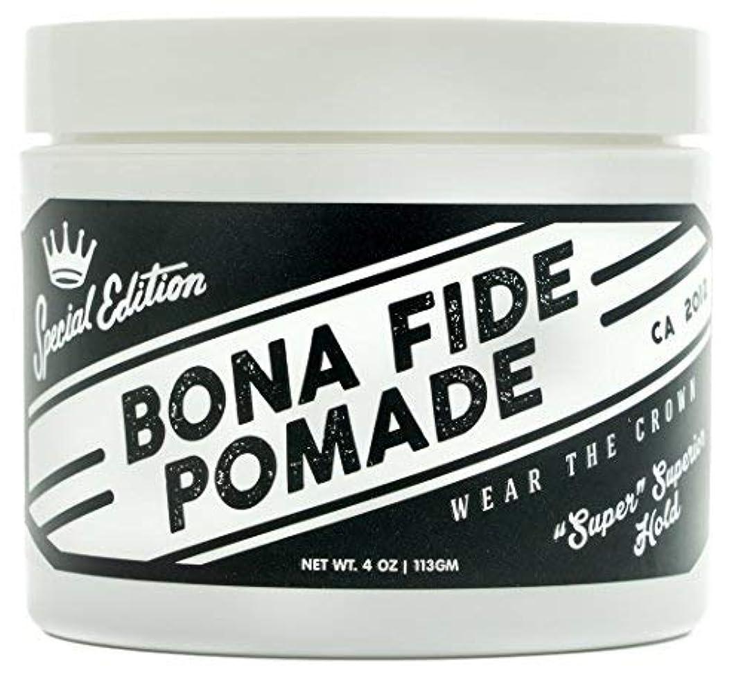 柔らかい足簡単なグラフィックBona Fide Pomade, スーパースーペリアホールドSE, 4OZ (113g)、水性ポマード/ヘアー グリース (整髪料)