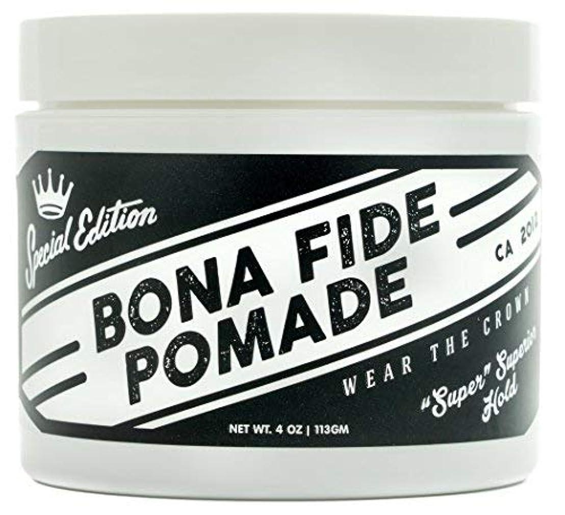 報酬のゲートウェイ良心的Bona Fide Pomade, スーパースーペリアホールドSE, 4OZ (113g)、水性ポマード/ヘアー グリース (整髪料)