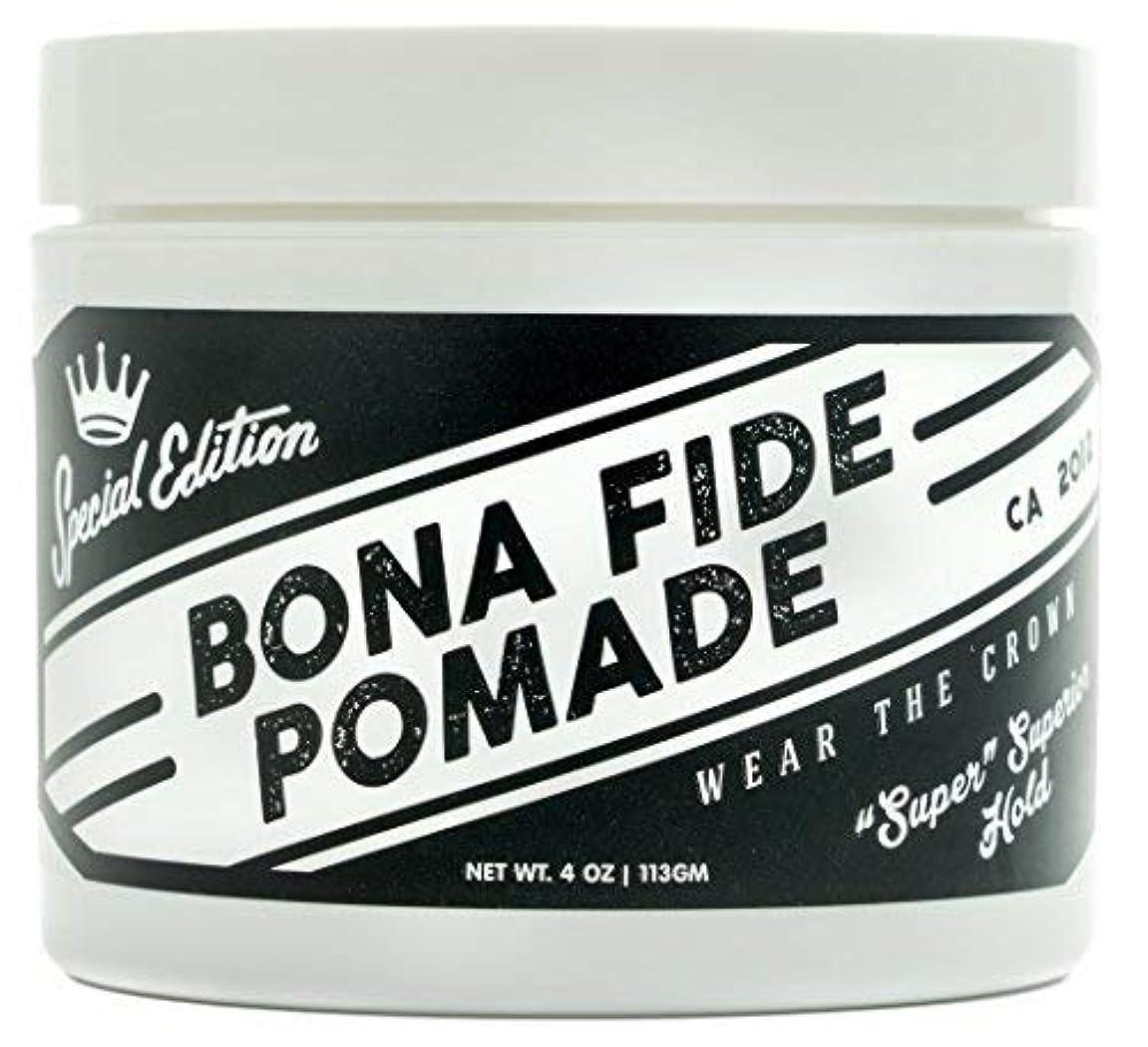 過激派優しいアニメーションBona Fide Pomade, スーパースーペリアホールドSE, 4OZ (113g)、水性ポマード/ヘアー グリース (整髪料)