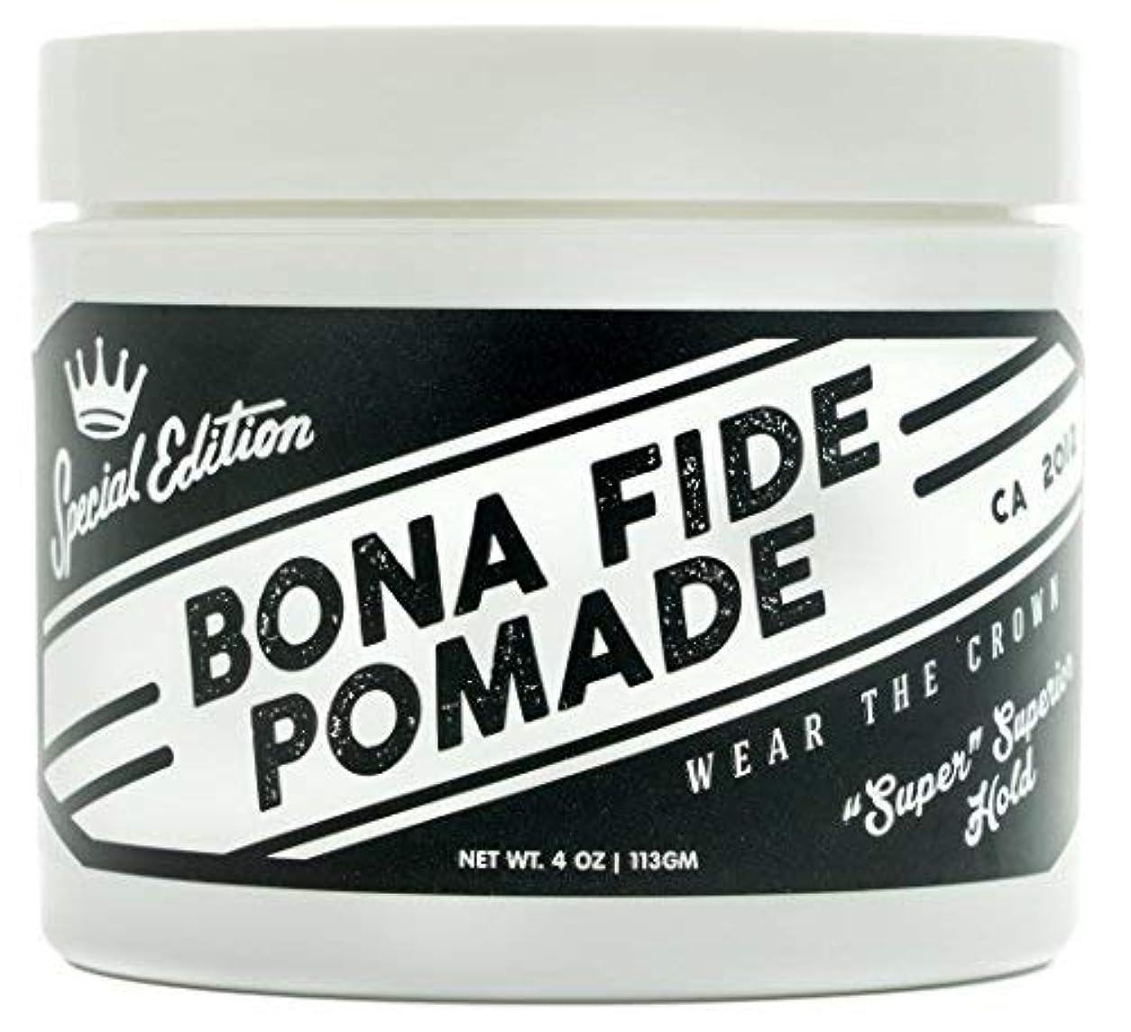 栄光晴れ緯度Bona Fide Pomade, スーパースーペリアホールドSE, 4OZ (113g)、水性ポマード/ヘアー グリース (整髪料)