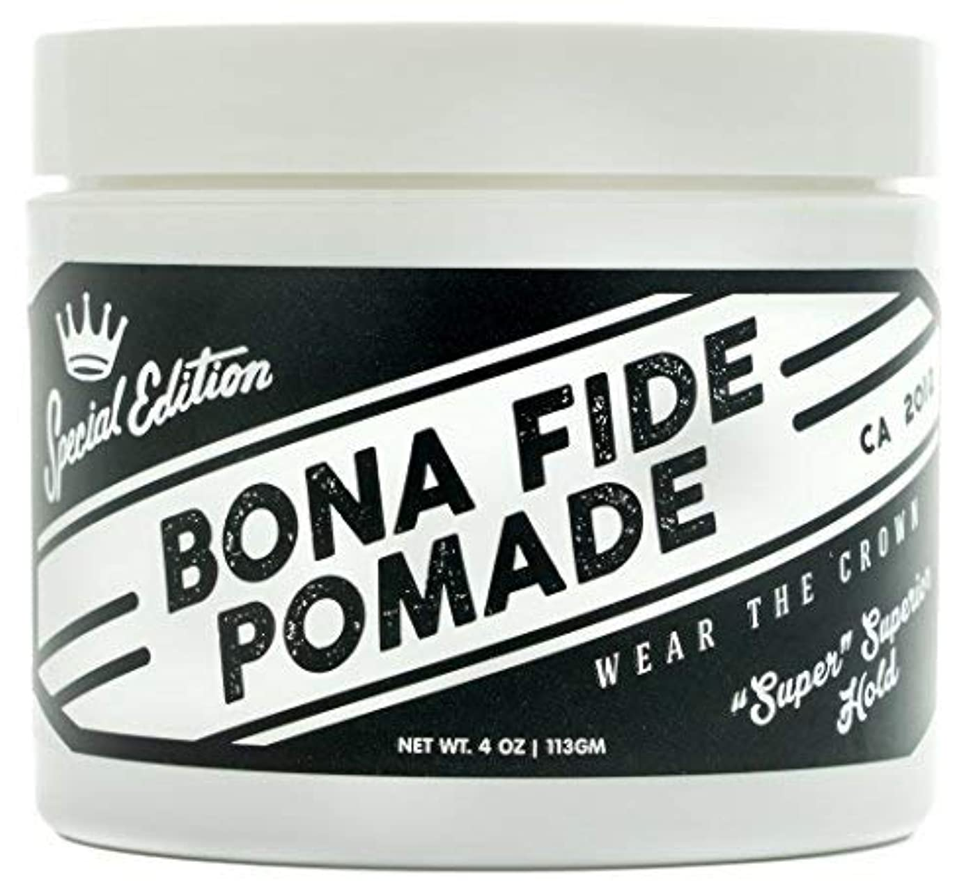 虫調停者蜂ボナファイドポマード(BONA FIDE POMADE) スーパースーペリアホールドSE メンズ 整髪料 水性 ヘアグリース