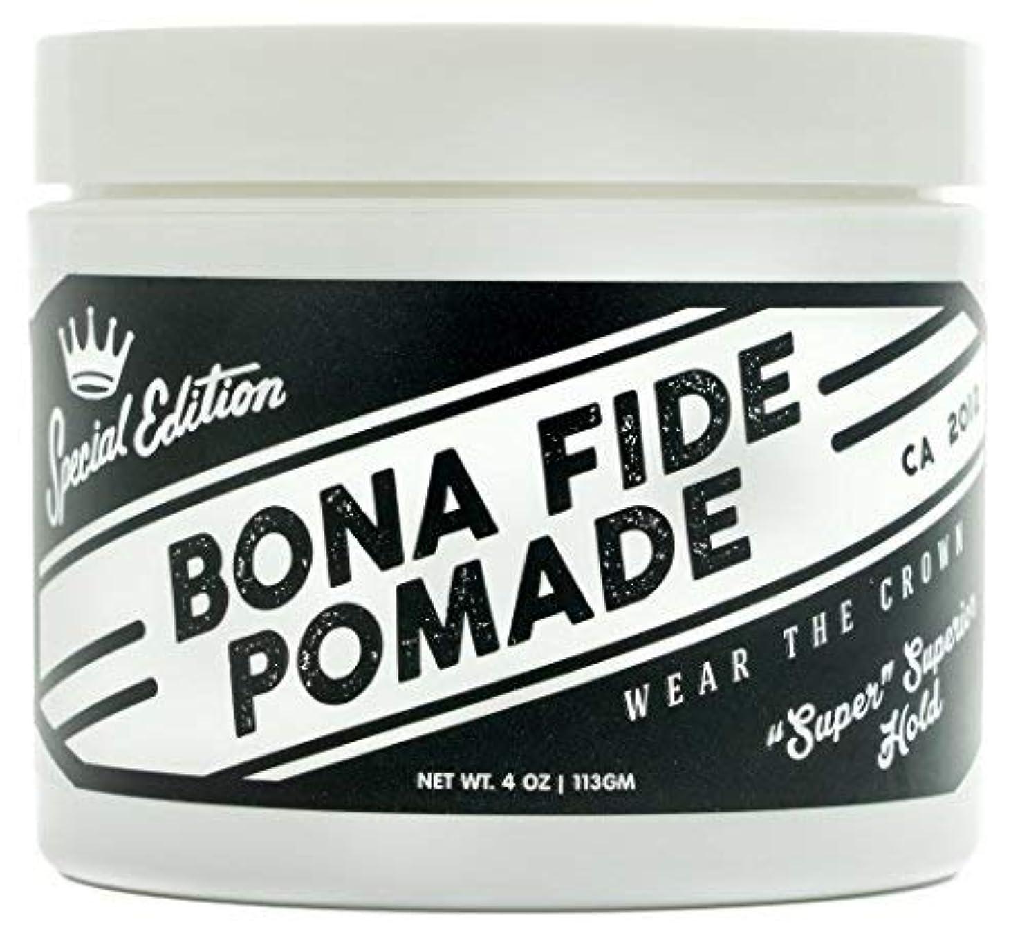 ミリメートル比率統合Bona Fide Pomade, スーパースーペリアホールドSE, 4OZ (113g)、水性ポマード/ヘアー グリース (整髪料)