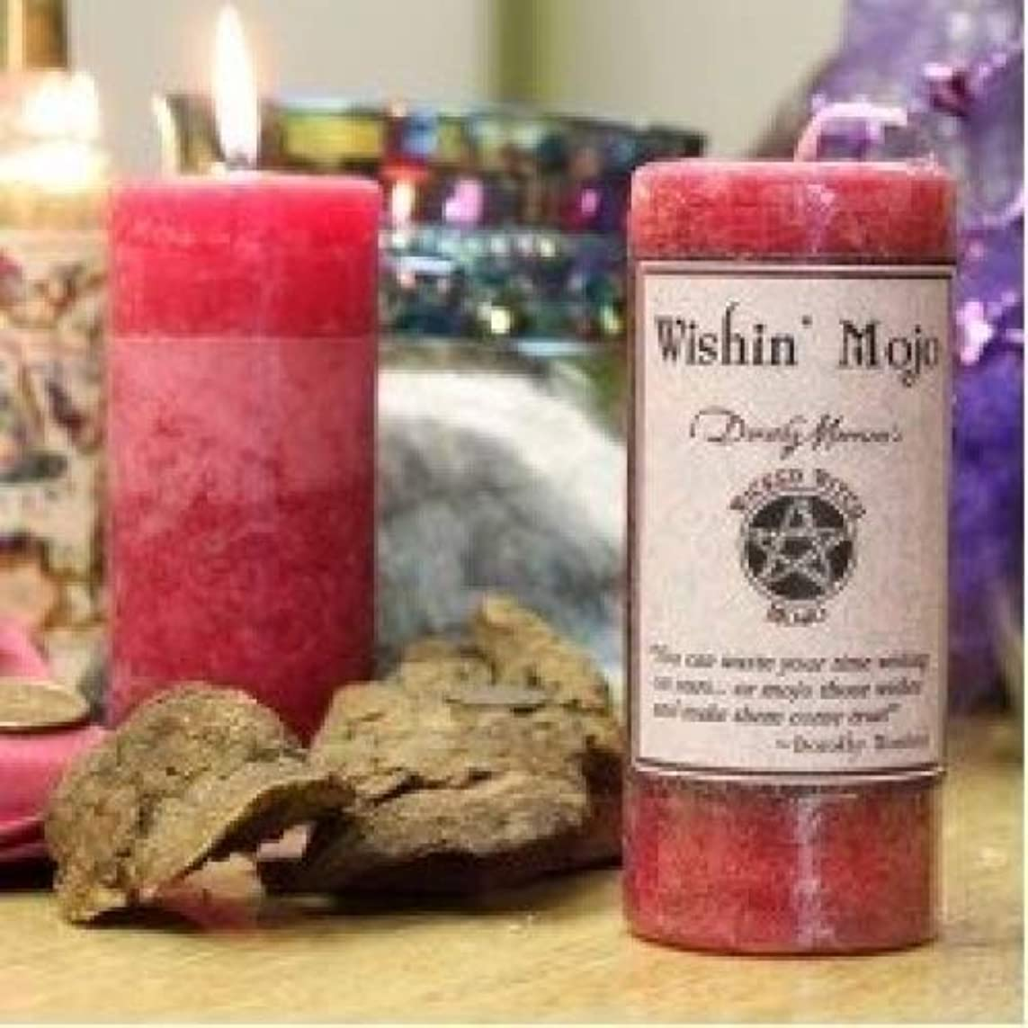 行サイレン悲惨Wicked Witch Mojo Wishin Mojo Candle by Dorothy Morrison