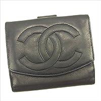 [シャネル] CHANEL Wホック財布 二つ折り財布 レディース メンズ 可 ココマーク 中古 T630