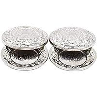 Odoria 1/12 2点セット ヴィンテージシルバープレートドールハウスケーキデザート皿食品食器ミニチュア