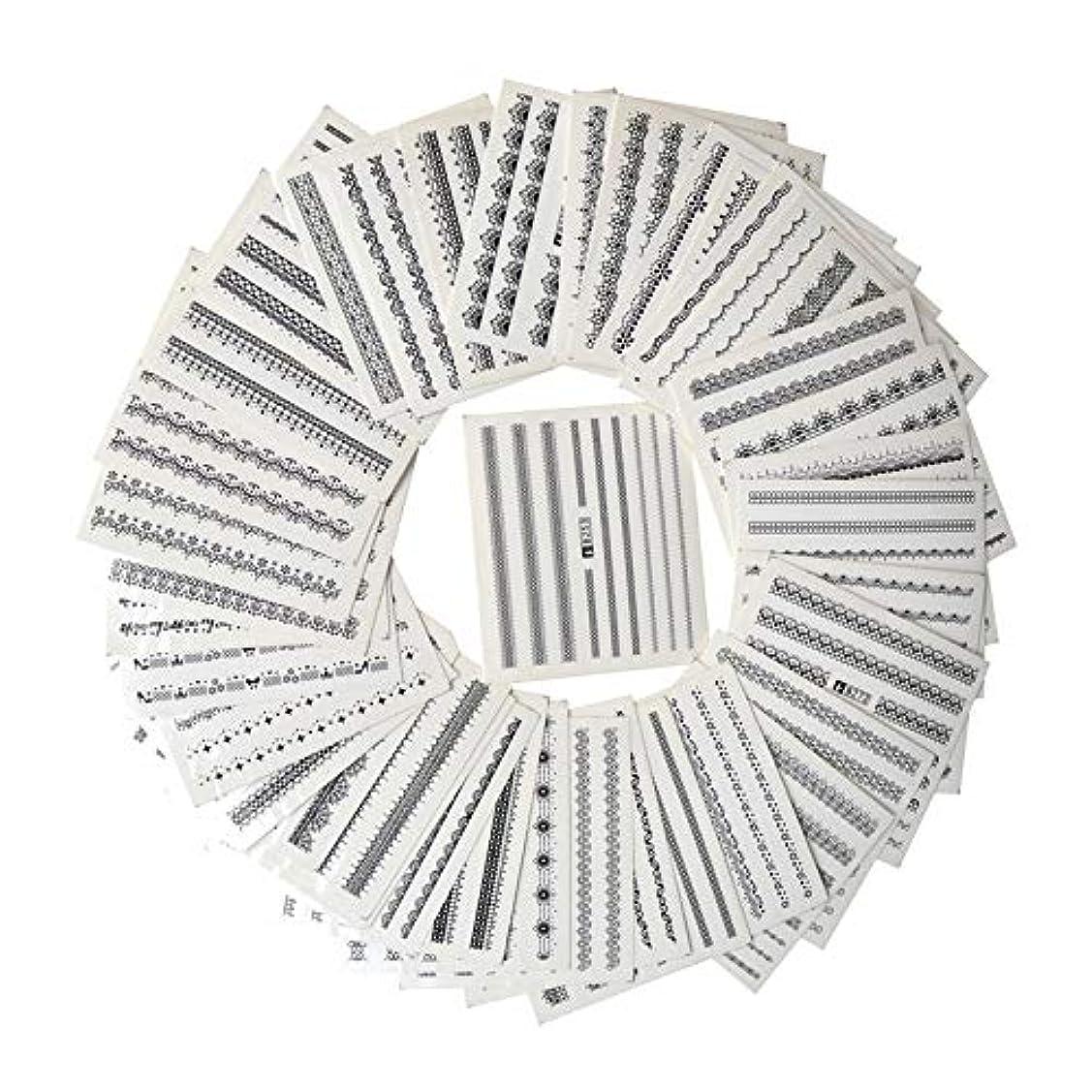 破滅的な中世の保証金SUKTI&XIAO ネイルステッカー マニキュアのための39枚のシートのDiyのステッカーの釘の芸術水移動の印刷のステッカー