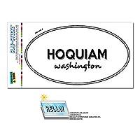 ホーキアム, WA - ワシントン - 黒と白 - 都市国家 - 楕円形 Laminated ステッカー