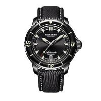 Reef Tiger RGA3035 腕時計 超夜光 ダイブウォッチ メンズ ナイロンベルト 自動巻き