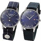 [ウォッチメーカー ミラノ]Watchmaker Milano 腕時計 メンズ Bauscia Crono バウーシャ クロノ WM.0BC.05 ブルーとAmbrogio アンブロジ..