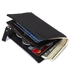 財布 本革 ウォレット 札入れ 高級二つ折り財布 メンズ サンディング皮 レザー 隠しポケット付き MAVIS'S DIARY スキミング防止 防撥水 高品質 ビジネス プレゼント 免許証 コイン 小銭 紙幣 カードなどに対応 ソフト コンパクト 大容量 収納力強い おしゃれ 人気 多機能(ブラック)