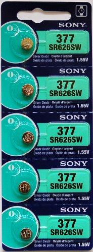 SONY 時計用 酸化銀電池 SR626SW(No.377) 電池×5個入り