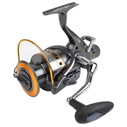 Dr.Fish Hercules-II Fishing Baitfeeder Reel Spinning Surf Reels 3000-6000 with Spare Spools, 30Lb Carbon Fiber Drag, 10+1 Stainless Steel Ball Bearings Saltwater Freshwater Fishing for Carp Catfish Bass