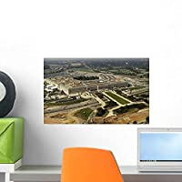 Aerial Photograph Pentagon with Wall Mural by Wallmonkeys Peel and Stick Graphic (18 in W x 11 in H) WM168415 [並行輸入品]