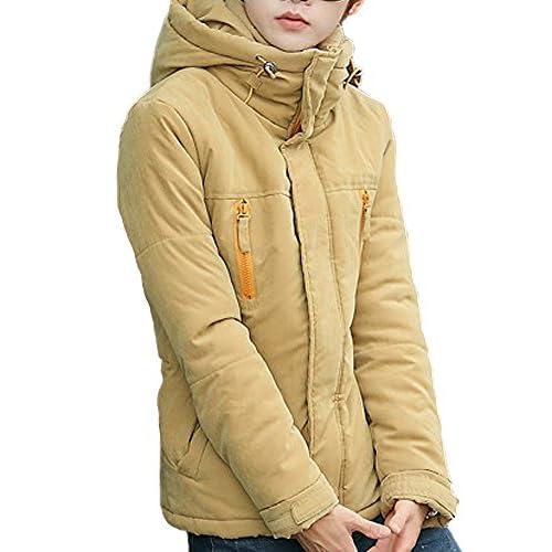 (ディーコッテ)D'Kotte メンズ ダウンジャケット ブランド コート アウター 冬 防寒 大きいサイズ フード スリム タイト フィット カジュアル z052(3XL,ベージュ)