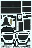 プラッツ RDC24/002 1/24 マクラーレン MP-4-12c 用 カーボンファイバー模様 デカールセット