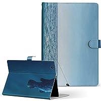 igcase d-01J dtab Compact Huawei ファーウェイ タブレット 手帳型 タブレットケース タブレットカバー カバー レザー ケース 手帳タイプ フリップ ダイアリー 二つ折り 直接貼り付けタイプ 003544 ユニーク 海 写真 サーフィン