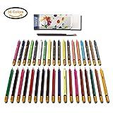36セットの色鉛筆 水彩色鉛筆 大人のプロフェッショナルな絵画や子供たちに美しい贈り物、色の濃い色のテクスチャを描いたカラーゲームは
