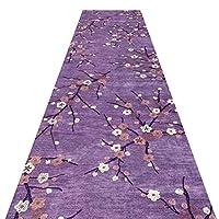 廊下ランナーエリアラグキッチンホールホワイエインポートエクスポートアイルストリップウォッシャブルエリアフロアカーペット6mm厚さ2スタイル (Color : Purple, Size : 0.6x2m)