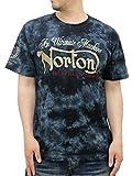 (ノートン) NORTON 大きいサイズ Tシャツ メンズ ブランド 半袖 ロゴ 刺繍 プリント ムラ染め 3color 3L ブラック