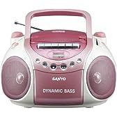 SANYO CDラジオカセットレコーダー (ピンク) PH-PR63(P)
