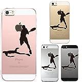 iPhone SE iPhone5S/5 対応 ハード クリア ケース 保護フィルム付 テニス スマッシュ