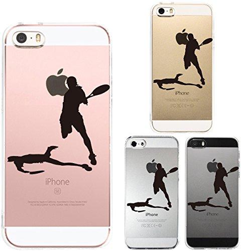 iPhone SE iPhone5S/5 対応 ハード クリア ケース 保護フィルム付 テニス スマ...
